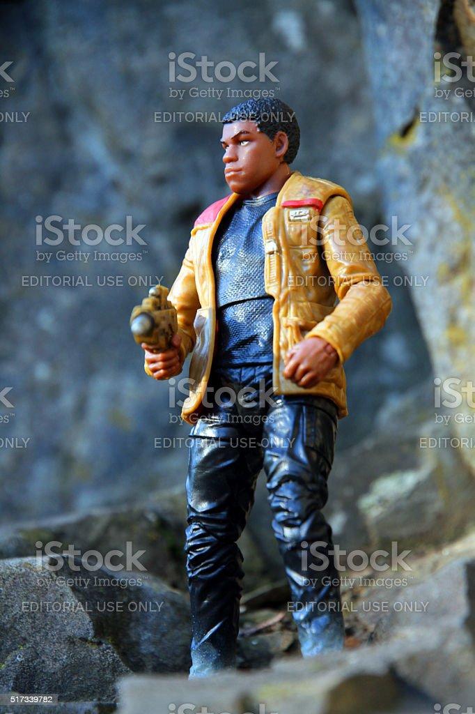 Finn on the Cliff Face stock photo