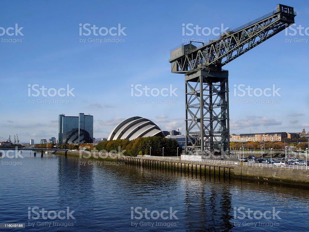 SECC & Finneston Crane, River Clyde, Glasgow stock photo