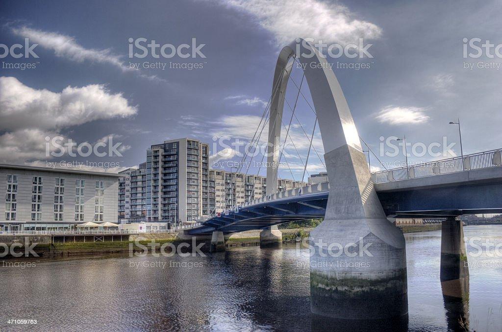 Finnieston Bridge, Glasgow royalty-free stock photo