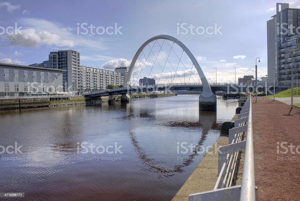 Finnieston Bridge, Glasgow royalty-free stock photo