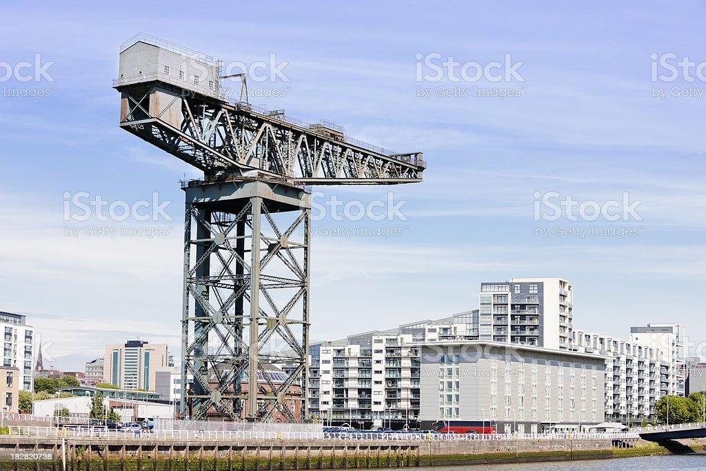 Finnieston Crane, Glasgow stock photo