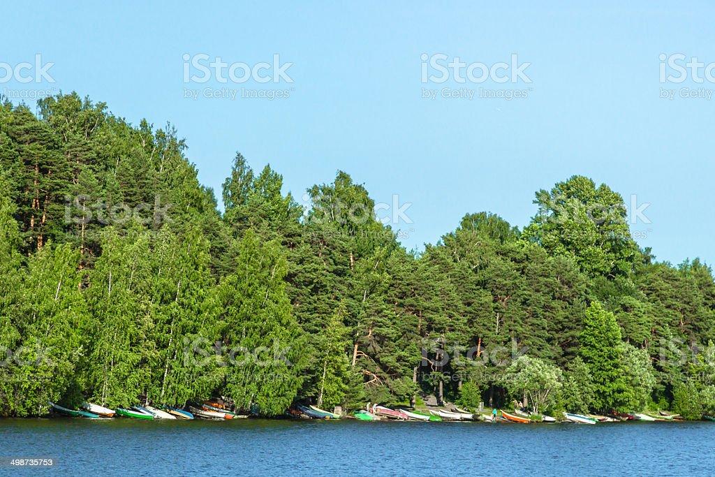 Finnish Boats stock photo