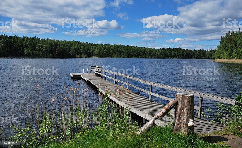 finnish lake royalty-free stock photo