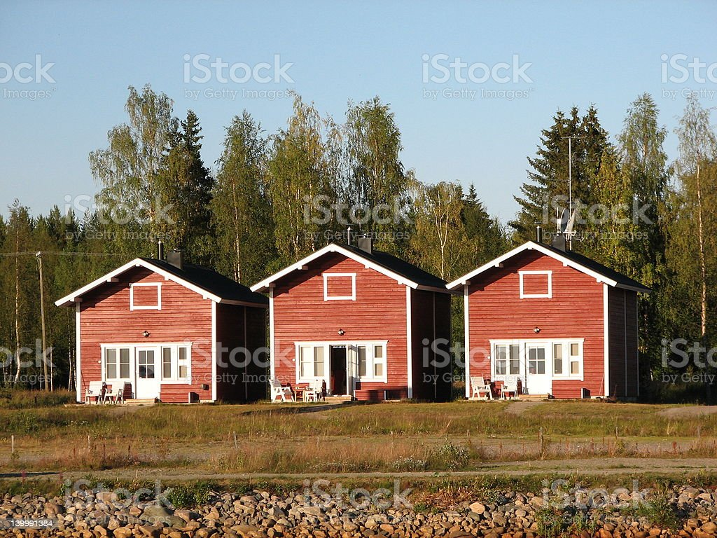 Finnish leisure houses royalty-free stock photo