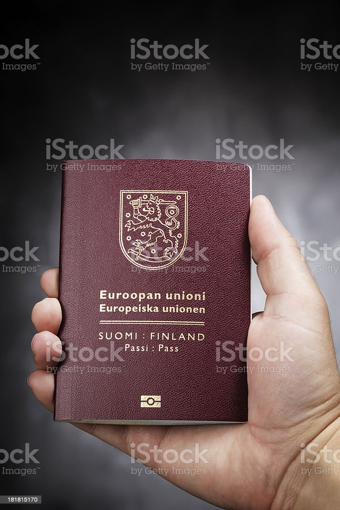 Finnish Passport royalty-free stock photo