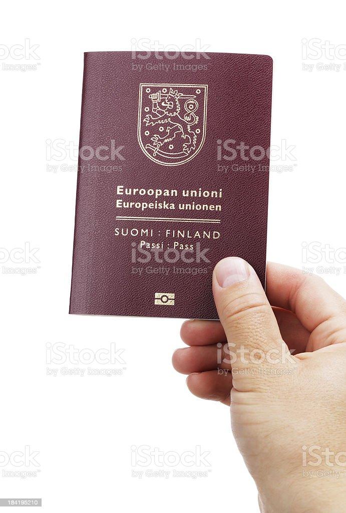 Finnish Passport royalty-free stock photo