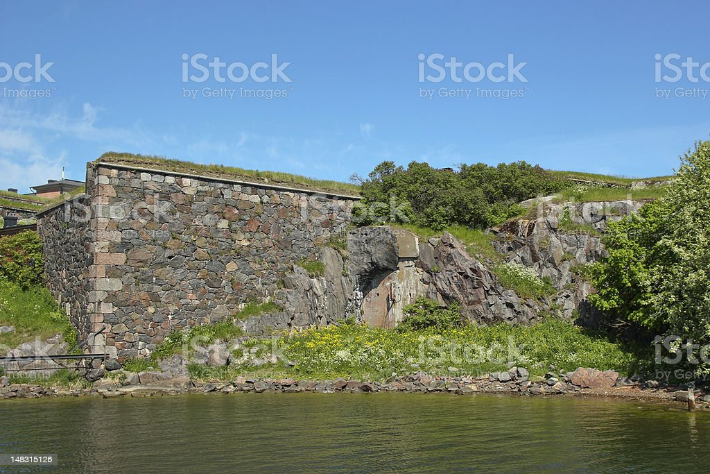 Finnish ruins at Suomenlinna royalty-free stock photo