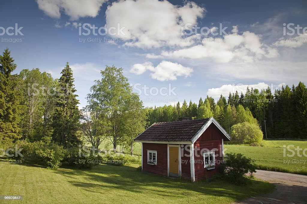 Finnish Sauna at Summer royalty-free stock photo