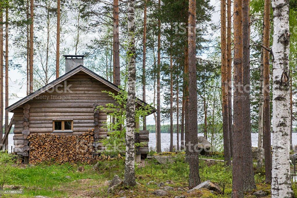 Finnish sauna stock photo