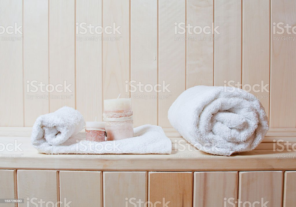 Finnische sauna spa Lizenzfreies stock-foto