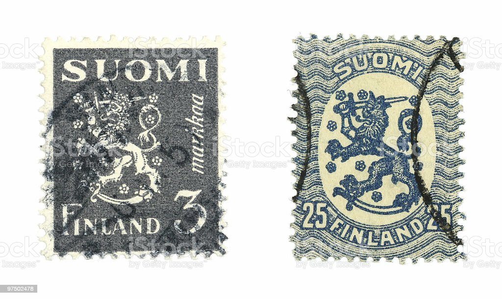 Finnish stamps royalty-free stock photo