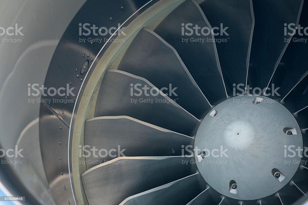 fins on a jet engine stock photo