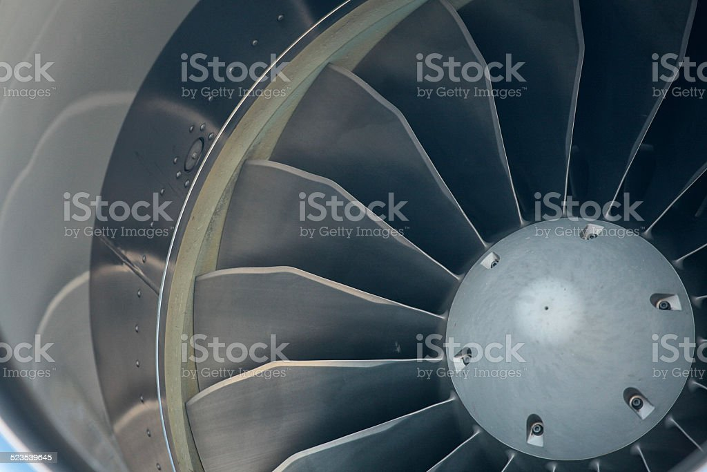 fins on a jet engine stock photo