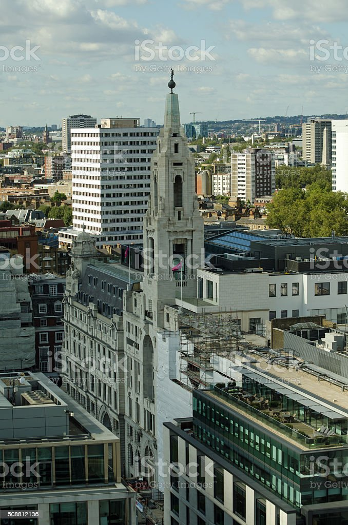Finsbury Square, London - Aerial View stock photo