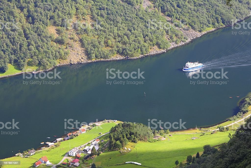 Fiord in Norway stock photo