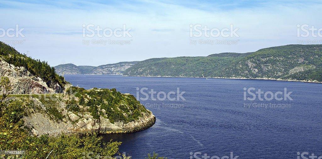 Fiord Saguenay stock photo