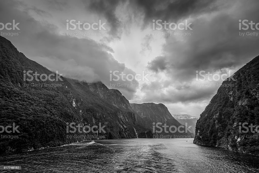 Fiordland National Park Scenic in South Island of New Zealand stock photo