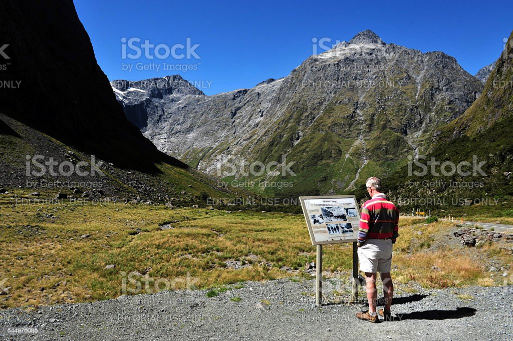 Fiordland New Zealand stock photo