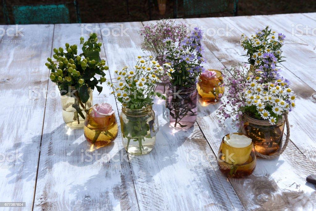fiori di campo stock photo