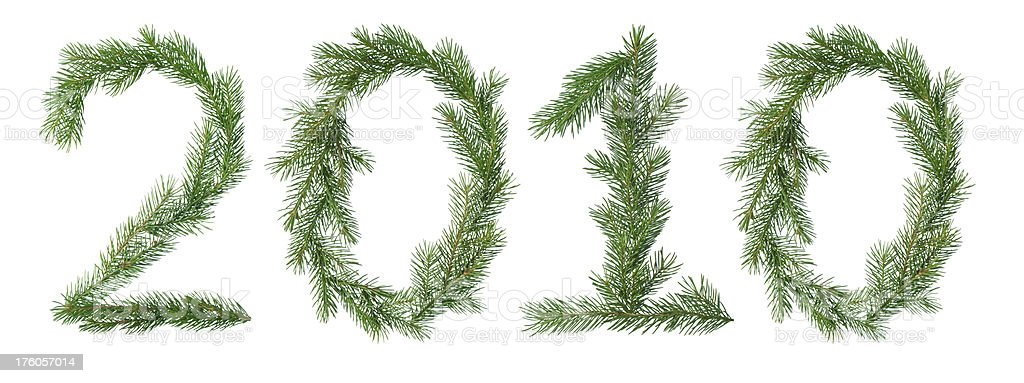 fir branches 2010 royalty-free stock photo