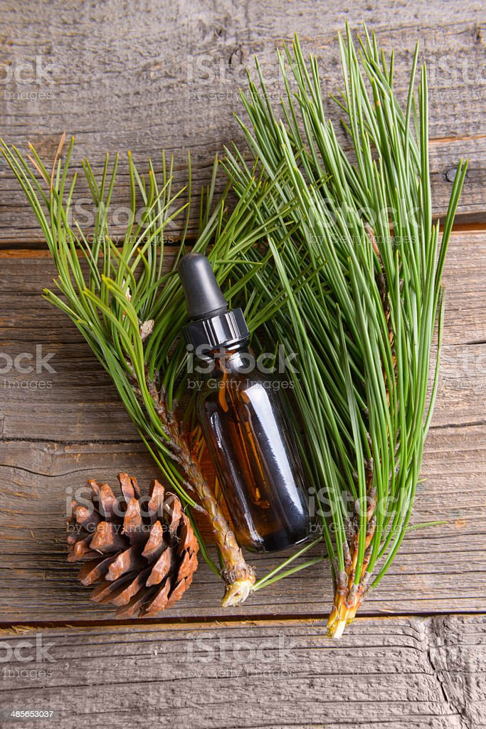 Fir oil stock photo
