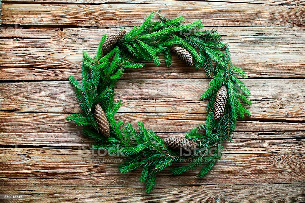 Fir wreath stock photo