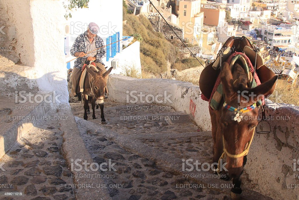 Fira on Santorini in the Cyclades, Greece royalty-free stock photo