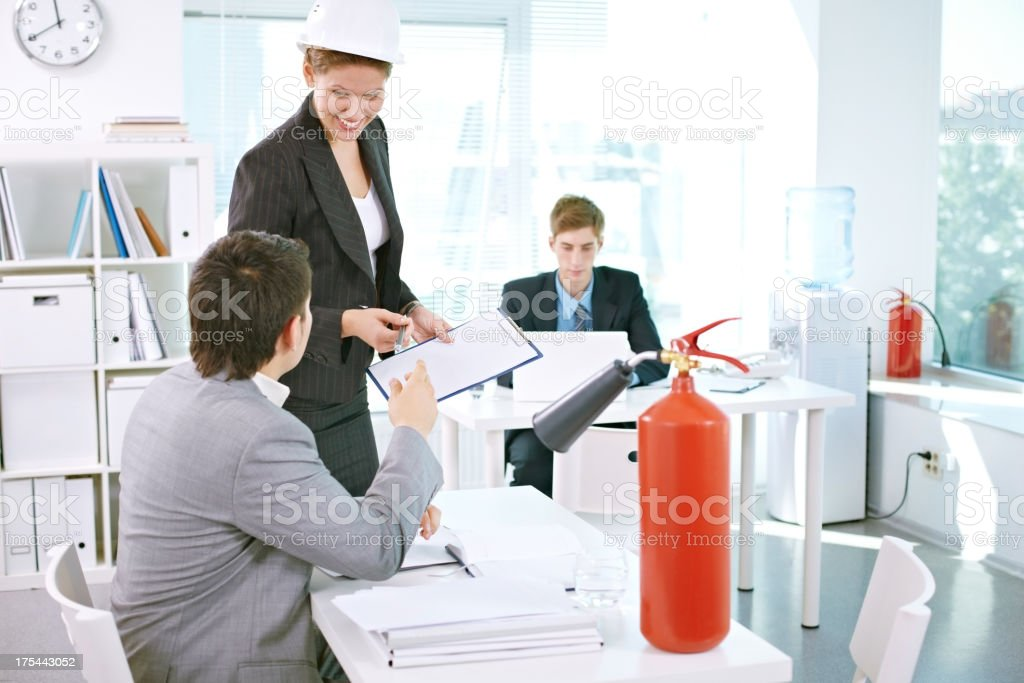 Fire action procedures royalty-free stock photo