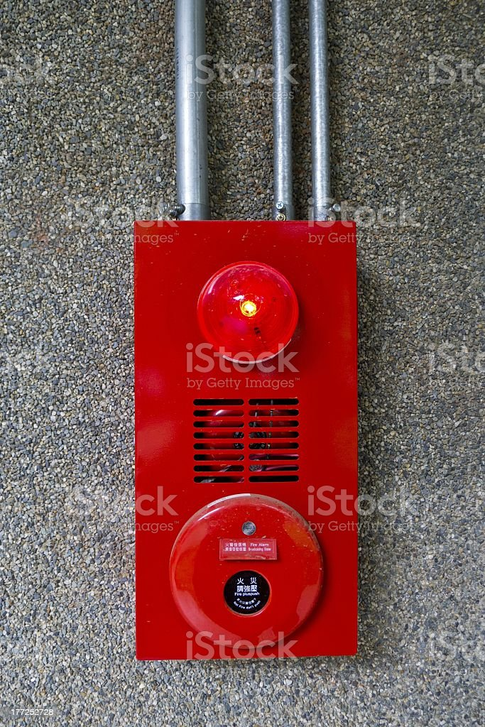 fire alarm bell royalty-free stock photo