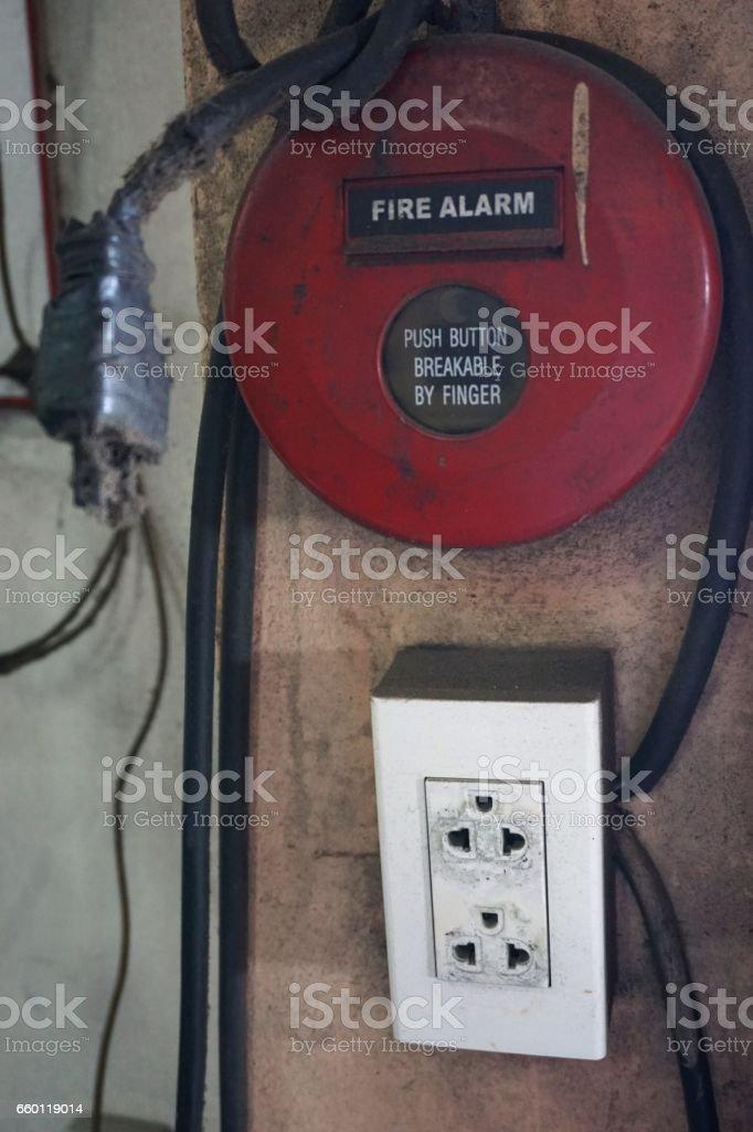 fire alarm bell stock photo
