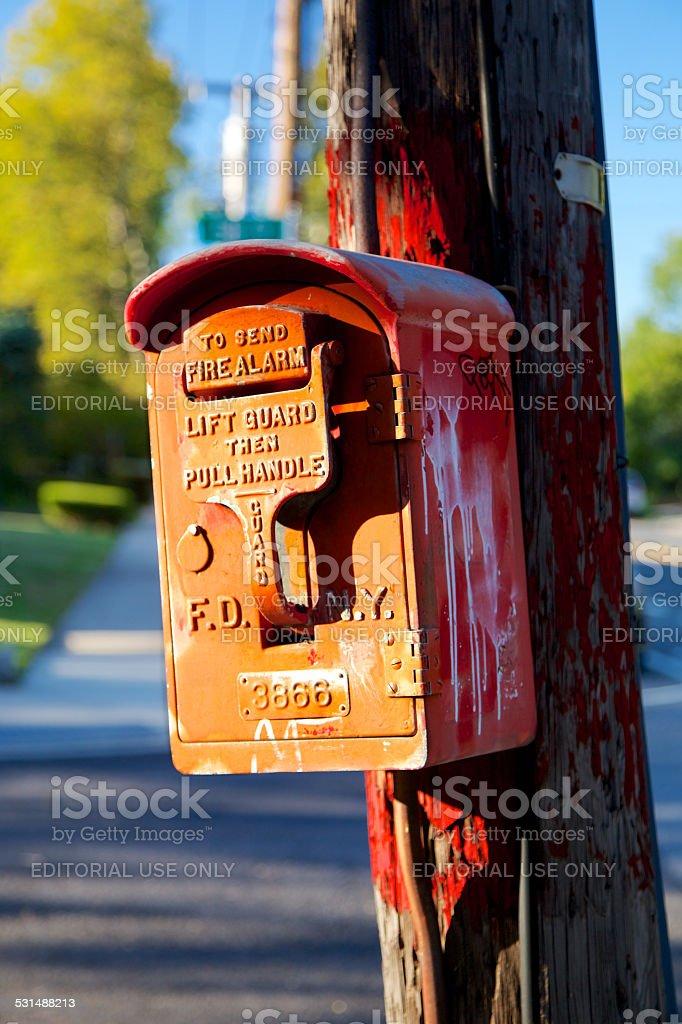 NYC Fire Alarm Box stock photo