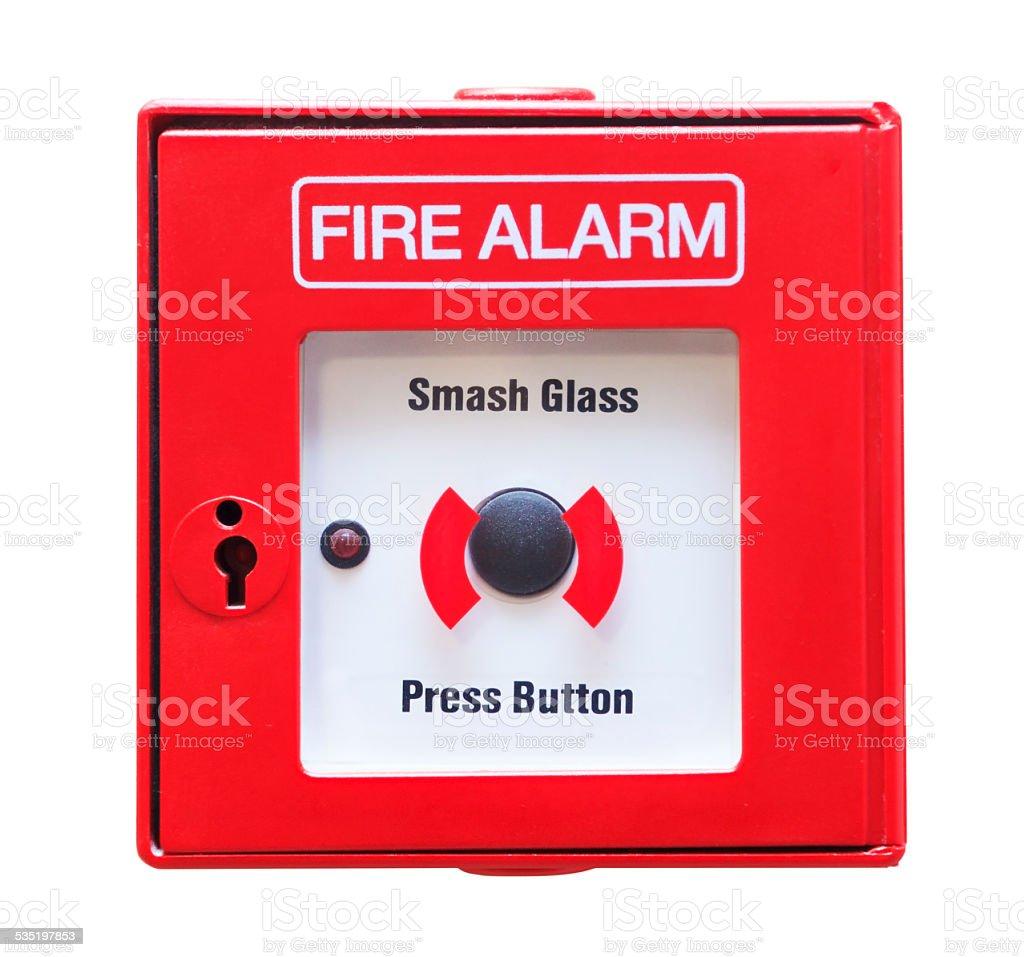 Fire Alarm - Break Glass stock photo