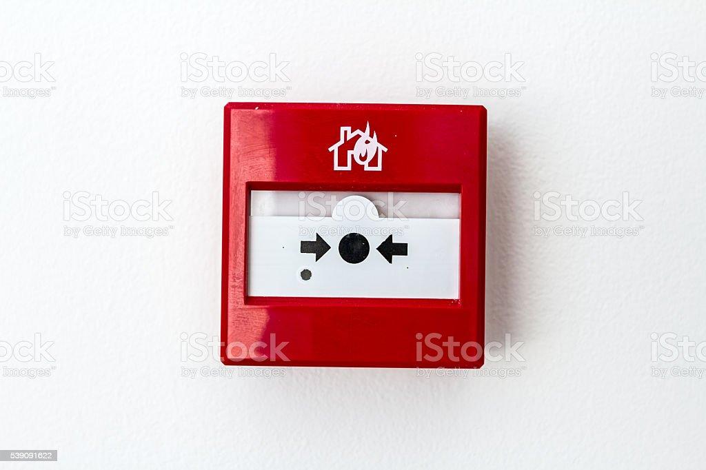Fire Alarm. Break Glass. stock photo