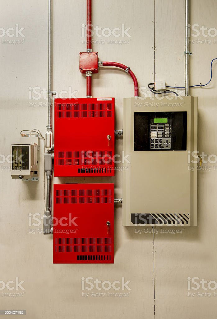 Fire Alarm Control System stock photo