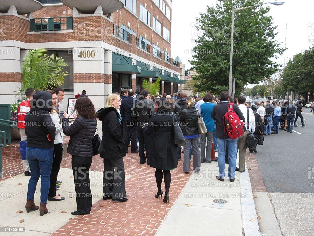 Fire Alarm Evacuation in Washington DC stock photo