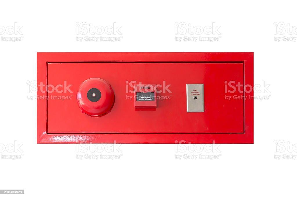 fire alarm panel stock photo