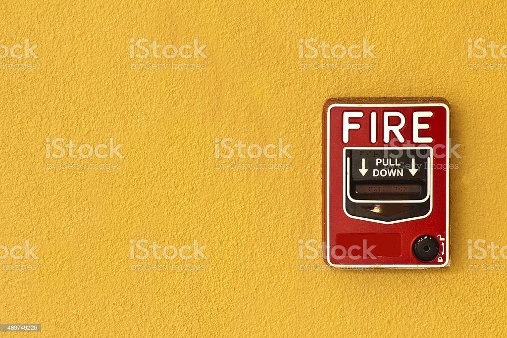 Fire alarm stock photo
