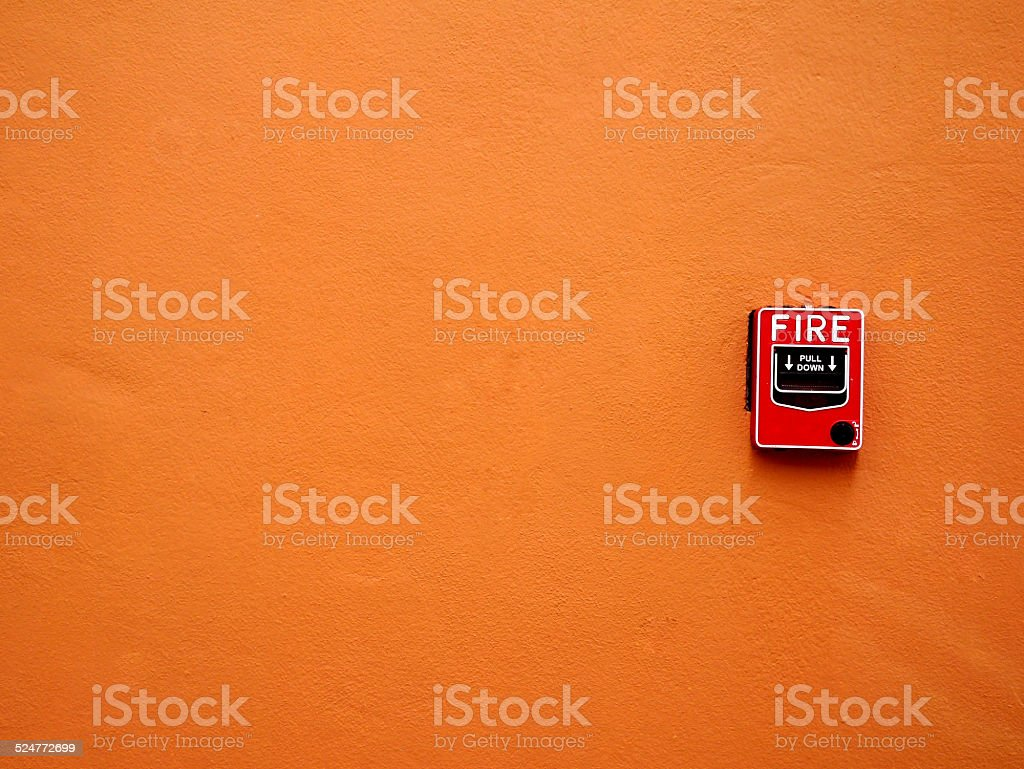 Fire alarm switch stock photo