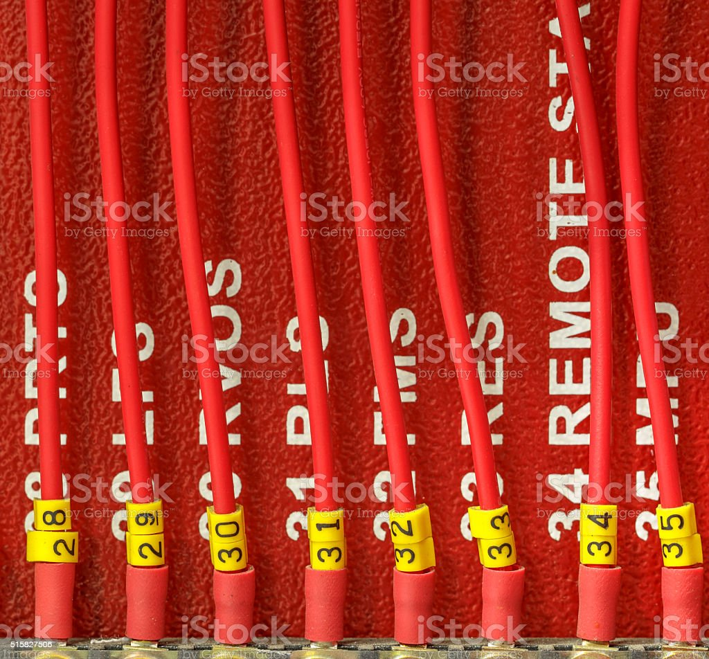 fire alarm system stock photo