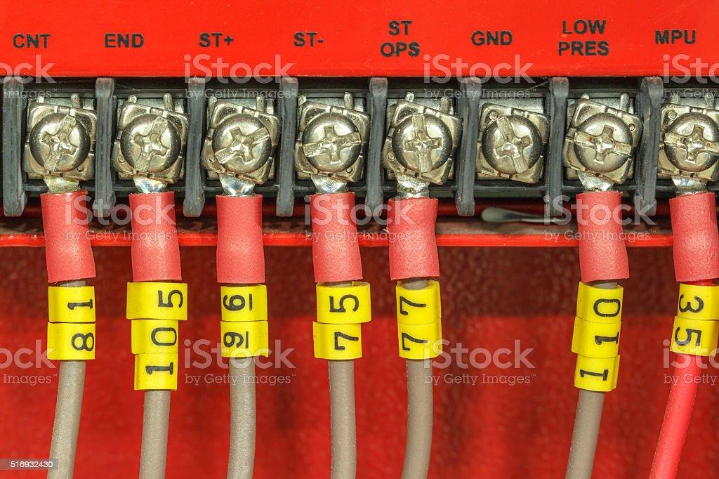 fire alarm system stock photo