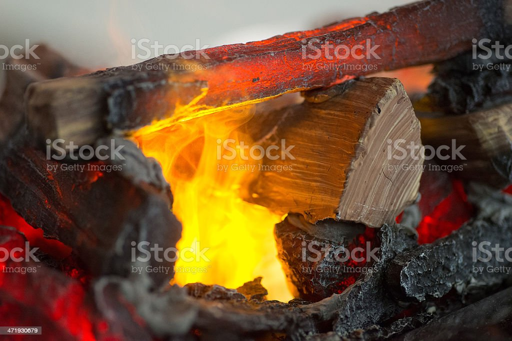 fire and coal royalty-free stock photo