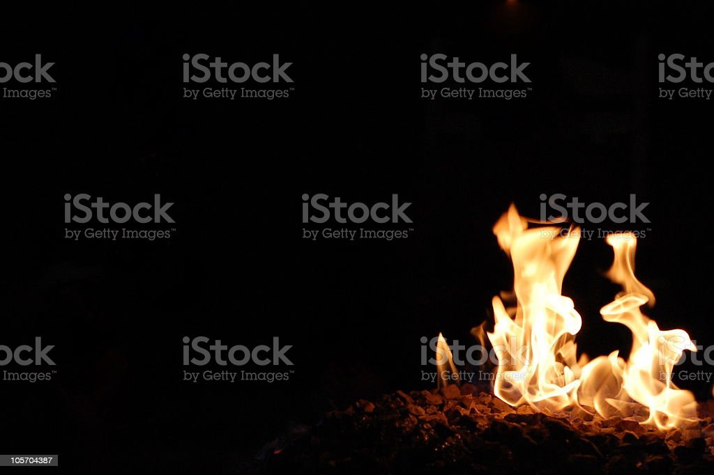 Fire and Darkness royalty-free stock photo