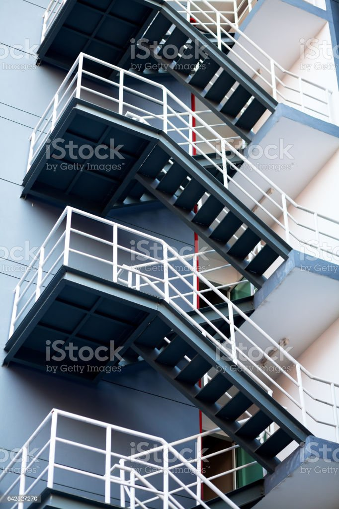 Fire and emergency steps stock photo