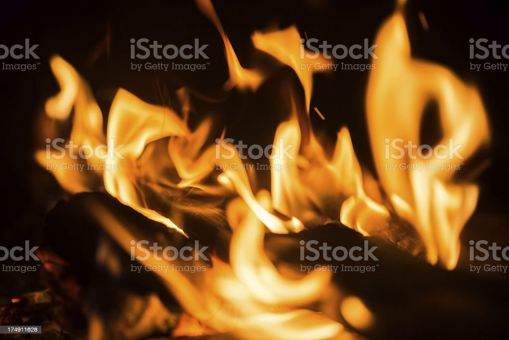 fire and flames royalty-free stock photo