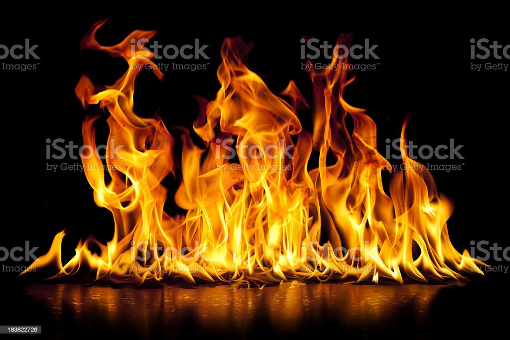 Fire and flames stock photo