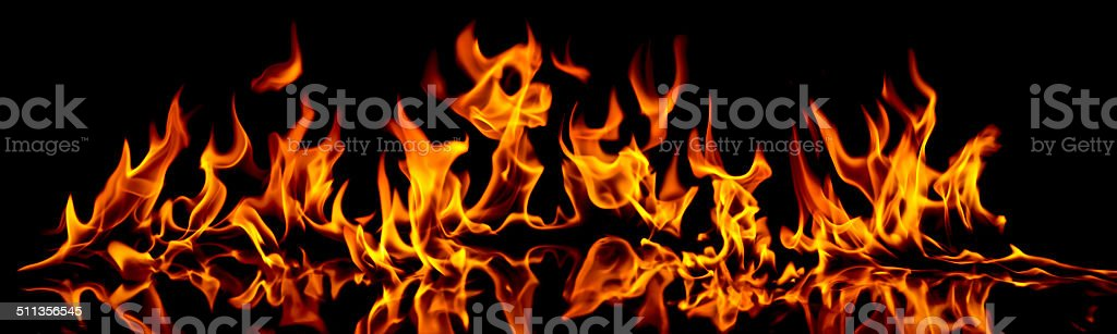 Fire and flames. stock photo