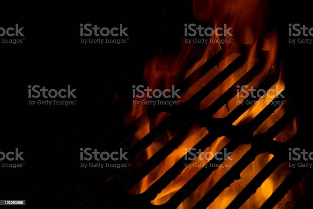 Fire and Grill royalty-free stock photo
