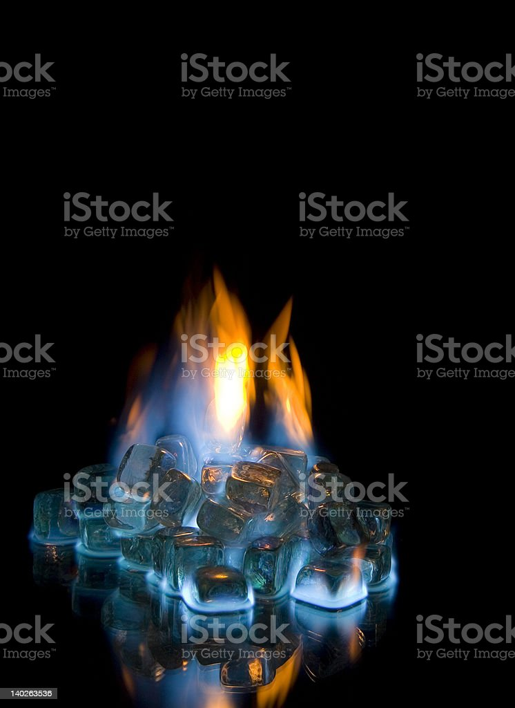 Fire and Ice 2 stock photo