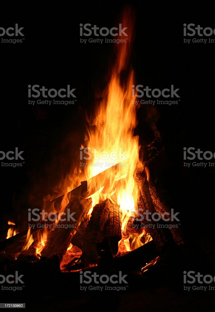 Fire at night royalty-free stock photo
