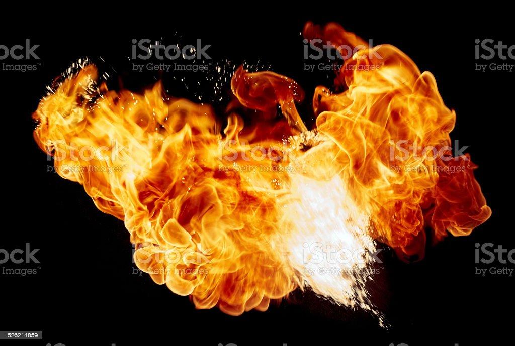 Fire ball. stock photo